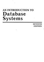 Cover of: An introduction to database systems | C. J. Date