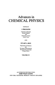 Cover of: Advances in Chemical Physics (Advances in Chemical Physics Series: 2-007) |