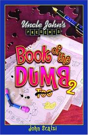 Cover of: Uncle John's Presents Book of the Dumb 2 (Uncle Johns Presents)