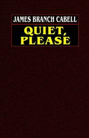 Cover of: Quiet, please
