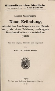 Cover of: Leopold Auenbruggers Neue Erfindung