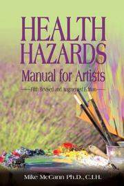 Cover of: Health Hazards Manual for Artists