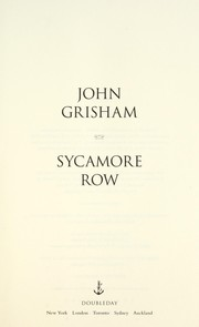 Cover of: Sycamore Row | John Grisham