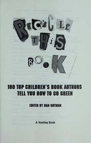 Cover of: Recycle this book |