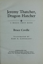 Cover of: Jeremy Thatcher, Dragon Hatcher | Bruce Coville