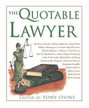 Cover of: The Quotable Lawyer (Quotable)