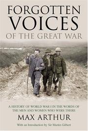 Cover of: Forgotten voices of the Great War |