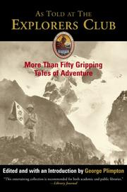 Cover of: As Told at the Explorers Club