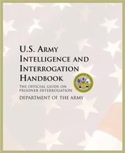 Cover of: U.S. Army Intelligence and Interrogation Handbook | Department of the Army