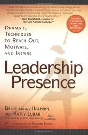 Cover of: Leadership Presence | Kathy Lubar