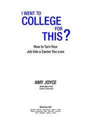 Cover of: I went to college for this? | Amy Joyce