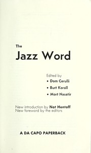 Cover of: The jazz word | Dom Cerulli