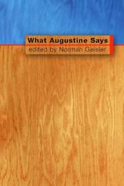 Cover of: What Augustine Says