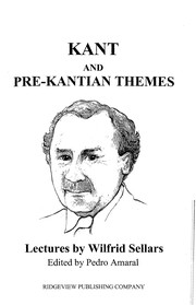 Cover of: Kant and pre-Kantian themes | Wilfrid Sellars