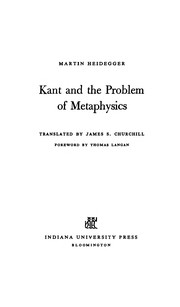 Kant and the problem of metaphysics.