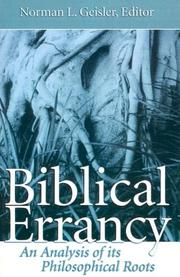 Cover of: Biblical Errancy: An Analysis of Its Philosophical Roots