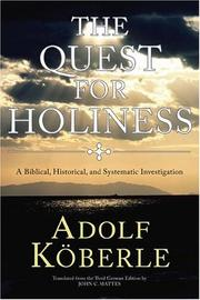 Cover of: The Quest for Holiness | Adolf Koberle