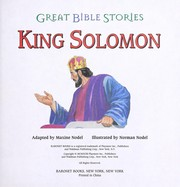 Cover of: King Solomon Great Bible Stories |