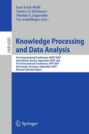 Cover of: Knowledge Processing and Data Analysis | Karl Erich Wolff