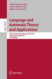 Cover of: Language and Automata Theory and Applications | Adrian-Horia Dediu