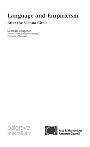 Cover of: Language and empiricism | Siobhan Chapman
