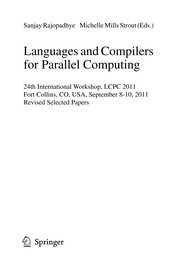Cover of: Languages and Compilers for Parallel Computing | Sanjay Rajopadhye