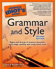 Cover of: The complete idiot's guide to grammar and style