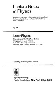 Cover of: Laser physics | New Zealand Symposium on Laser Physics (3rd 1983 University of Waikato)
