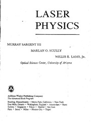 Cover of: Laser physics