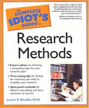 Cover of: The complete idiot's guide to research methods