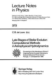 Cover of: Late stages of stellar evolution | Astrophysics School (2nd 1989 Ponte do Lima, Portugal)