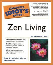 Cover of: The Complete Idiot's Guide to Zen Living