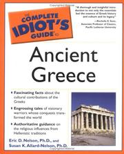 Cover of: Complete idiot's guide to ancient Greece