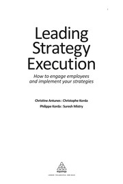 Cover of: Leading strategy execution |
