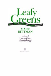 Cover of: Leafy greens | Mark Bittman