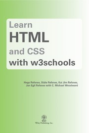 Cover of: Learn HTML and CSS with w3schools | Hege Refsnes