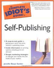 Cover of: The Complete Idiot's Guide to Self-Publishing