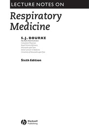 Cover of: Lecture notes on respiratory medicine. | S. J. Bourke
