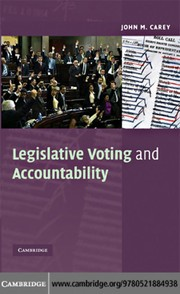 Cover of: Legislative voting and accountability