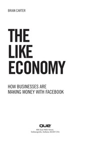 Cover of: The like economy | Carter, Brian internet marketing consultant