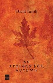 An apology for autumn by David A. Turrill, Joseph Telushkin