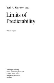 Cover of: Limits of Predictability | IНЎU. A. KravtНЎsov