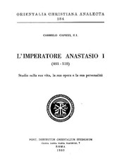 Cover of: L'imperatore Anastasio I (491-518)