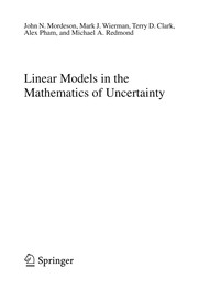 Cover of: Linear Models in the Mathematics of Uncertainty