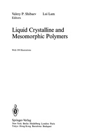 Cover of: Liquid Crystalline and Mesomorphic Polymers | Valery P. Shibaev