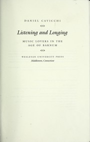 Cover of: Listening and longing