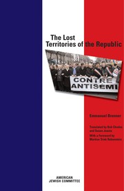 Cover of: The lost territories of the republic = | Emmanuel Brenner