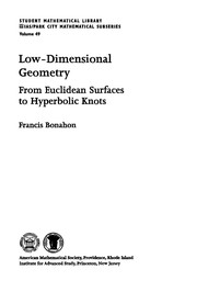 Cover of: Low-dimensional geometry | Francis Bonahon