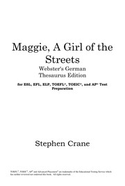 Cover of: Maggie, a girl of the streets | Stephen Crane