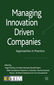Cover of: Managing innovation driven companies | Hugo Tschirky